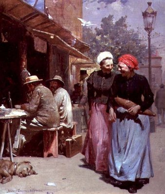 Parisian Market, 1896 Wall Art & Canvas Prints by Benjamin Osro Eggleston