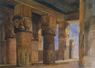 Temple of Denderah, Upper Egypt Fine Art Print by William James Muller