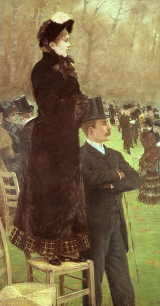 The Races at Auteuil, Paris Fine Art Print by Giuseppe or Joseph de Nittis