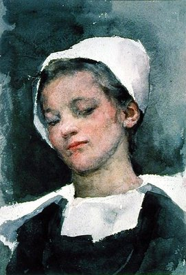 Louise, a Breton Girl Wall Art & Canvas Prints by Elizabeth Adela Stanhope Forbes