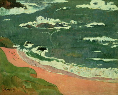 Beach at Le Pouldu, 1889 Fine Art Print by Paul Gauguin