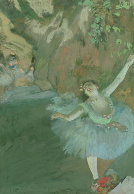 The Bow of the Star, c.1880 Poster Art Print by Edgar Degas