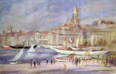 The Old Port of Marseilles, c.1912 Postcards, Greetings Cards, Art Prints, Canvas, Framed Pictures, T-shirts & Wall Art by Pierre-Auguste Renoir