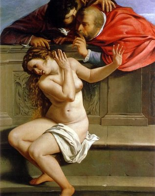 Susannah and the Elders, c.1610 Wall Art & Canvas Prints by Artemisia Gentileschi