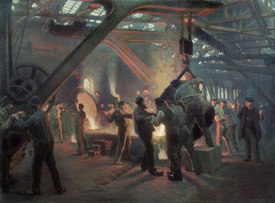 Biermeister and Wain Steel Forge, 1885 Fine Art Print by Peder Severin Kroyer