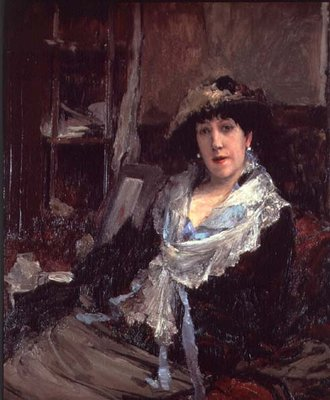 Portrait of Madame Jeanne Samary Fine Art Print by Jules Bastien-Lepage