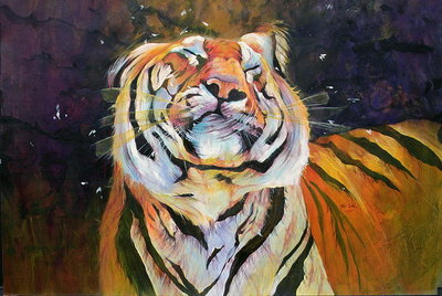 Tiger Fine Art Print by Odile Kidd
