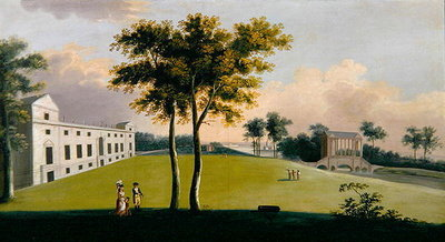 The South Front of Wilton House and the Palladian Bridge of the East, Salisbury Fine Art Print by George, the Younger Cuitt
