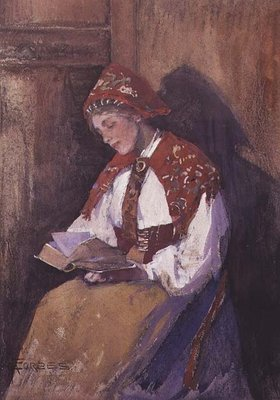 Lady Reading Wall Art & Canvas Prints by Elizabeth Adela Stanhope Forbes