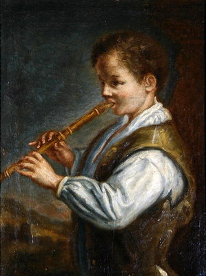 The Flautist Fine Art Print by Alexis Grimoux