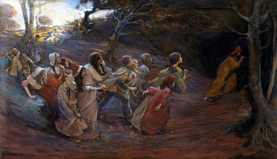 The Pied Piper of Hamelin Wall Art & Canvas Prints by Elizabeth Adela Stanhope Forbes