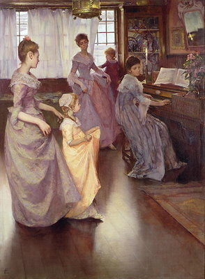 The Minuet, 1892 Wall Art & Canvas Prints by Elizabeth Adela Stanhope Forbes