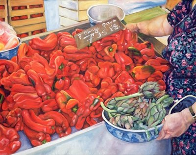 Tomatoes and Artichokes, 1998 Fine Art Print by Peter Breeden