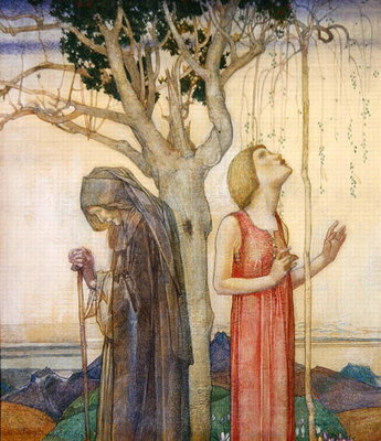 Youth and Age, 1923 Poster Art Print by Edward Reginald Frampton