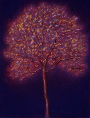 Gold Tree, 1997 (pastel on paper) Fine Art Print by Peter Davidson