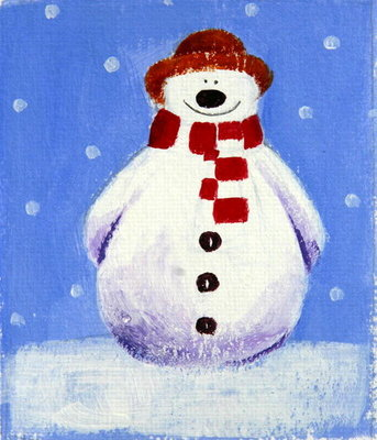 Snowman, 2001 Fine Art Print by Alex Smith-Burnett