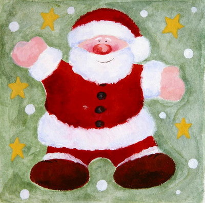 Smiling Santa, 2001 Poster Art Print by Alex Smith-Burnett
