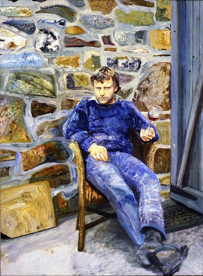 Portrait of Peter Reading, 1989 Fine Art Print by Peter Edwards