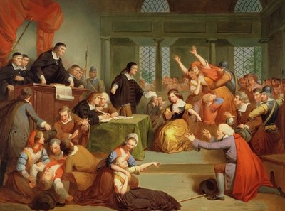 The Trial of George Jacobs, 5th August 1692, 1855 Fine Art Print by Tompkins Harrison Matteson