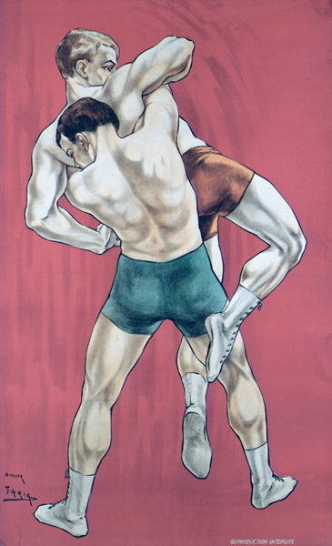 Wrestling Postcards, Greetings Cards, Art Prints, Canvas, Framed Pictures & Wall Art by Candido Aragonez de Faria