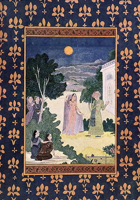 Moon of Beauty, illustration for 'The Arabian Nights', 1895 Fine Art Print by French School