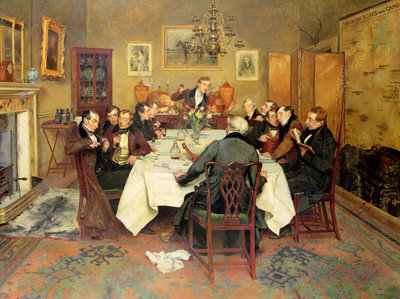 The Bagman's Toast 'Sweethearts and Wives' Fine Art Print by Walter Dendy Sadler