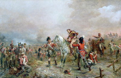 The Field at Waterloo Poster Art Print by Robert Alexander Hillingford