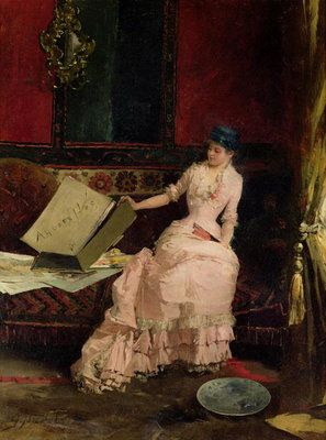 The Elegant Connoisseur, 1883 Fine Art Print by Gabriel Nicolet