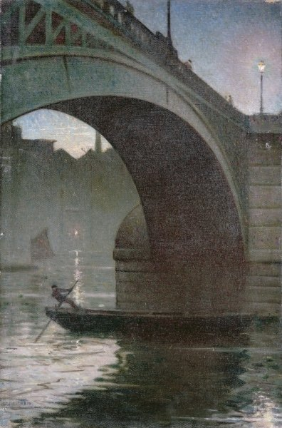 Old Southwark Bridge, c.1919 Fine Art Print by Christopher Richard Wynne Nevinson