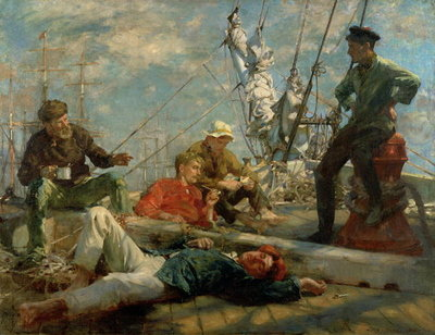 The Midday Rest Fine Art Print by Henry Scott Tuke