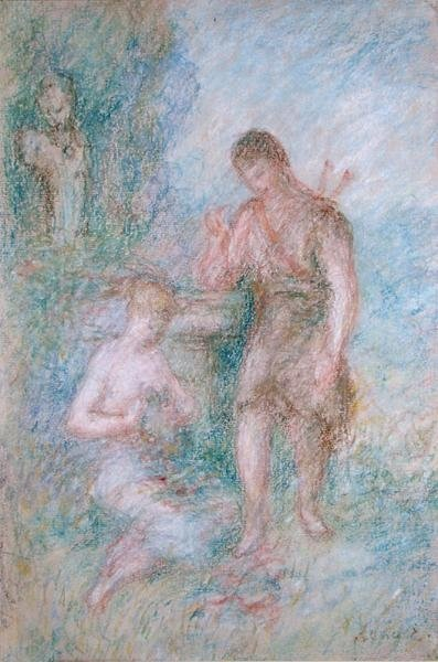 A La Fontaine Wall Art & Canvas Prints by Pierre-Auguste Renoir
