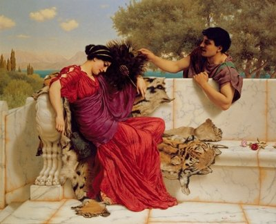 The Old, Old Story, 1903 Fine Art Print by John William Godward