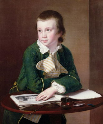 T33403 Portrait of the Revd William Rastall as a Boy Fine Art Print by Joseph Wright of Derby