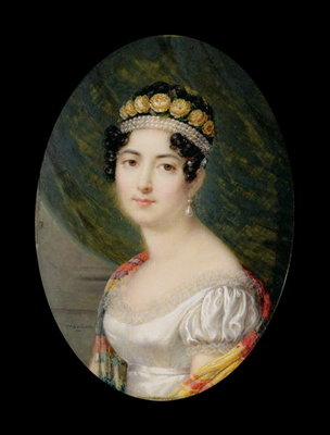 Portrait Miniature of the Empress Josephine Fine Art Print by Andre Leon Larue