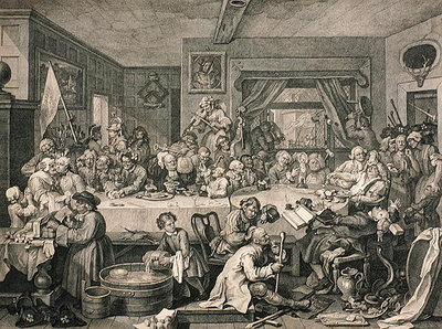An Election Entertainment, from 'The Works of William Hogarth', published 1833 Wall Art & Canvas Prints by William Hogarth