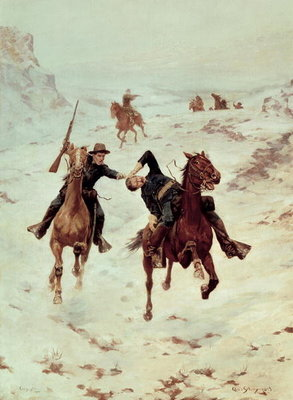The Despatch Riders, 1900 Fine Art Print by Charles Schreyvogel