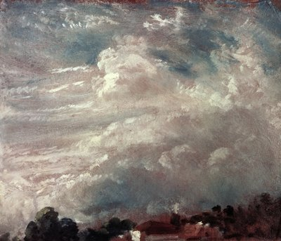 Cloud study, horizon of trees Fine Art Print by John Constable