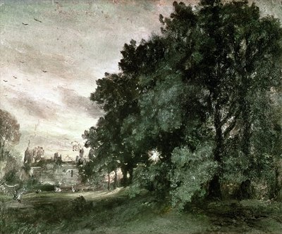 Study of Trees Fine Art Print by John Constable