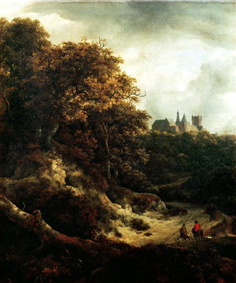 Castle at Bentheim, 1651 Fine Art Print by Jacob Isaaksz. or Isaacksz. van Ruisdael