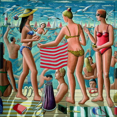 The Bathers Wall Art & Canvas Prints by P.J. Crook