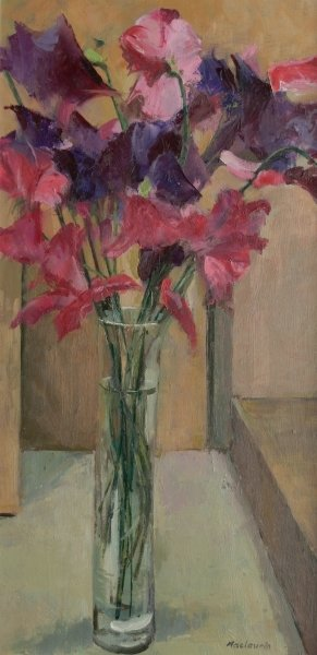 Sweet Peas, 2008 Wall Art & Canvas Prints by Pat Maclaurin
