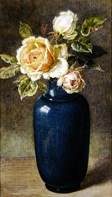 Vase of Roses Wall Art & Canvas Prints by Helen Cordelia Coleman Angell