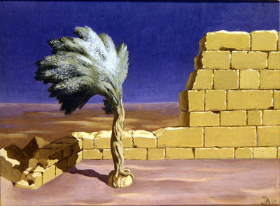 The Yellow Wall, 1939 Wall Art & Canvas Prints by John Armstrong