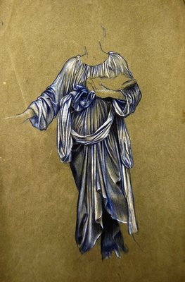 Study for the Third Standing Winged Angel Fine Art Print by Evelyn De Morgan
