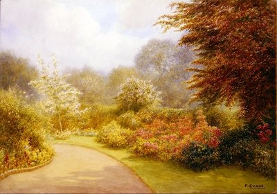 Azaleas Rectory Gardens, Brockhurst Hill Postcards, Greetings Cards, Art Prints, Canvas, Framed Pictures, T-shirts & Wall Art by Frederick Henry Evans