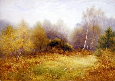 Rabbits in a Forest Clearing Fine Art Print by Frederick Henry Evans