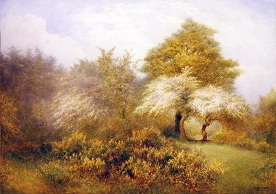 Spring Epping near Buckhurst Hill Postcards, Greetings Cards, Art Prints, Canvas, Framed Pictures, T-shirts & Wall Art by Frederick Henry Evans
