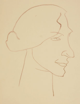 Sophie in Profile, 1913 Wall Art & Canvas Prints by Henri Gaudier-Brzeska