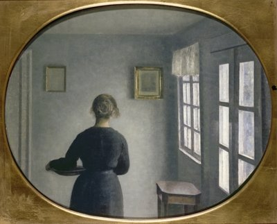 Interior, 1910 Wall Art & Canvas Prints by Vilhelm Hammershoi