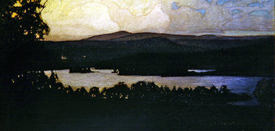 Northern Lights in the Archipelago, 1902 Fine Art Print by Otto Hesselbom